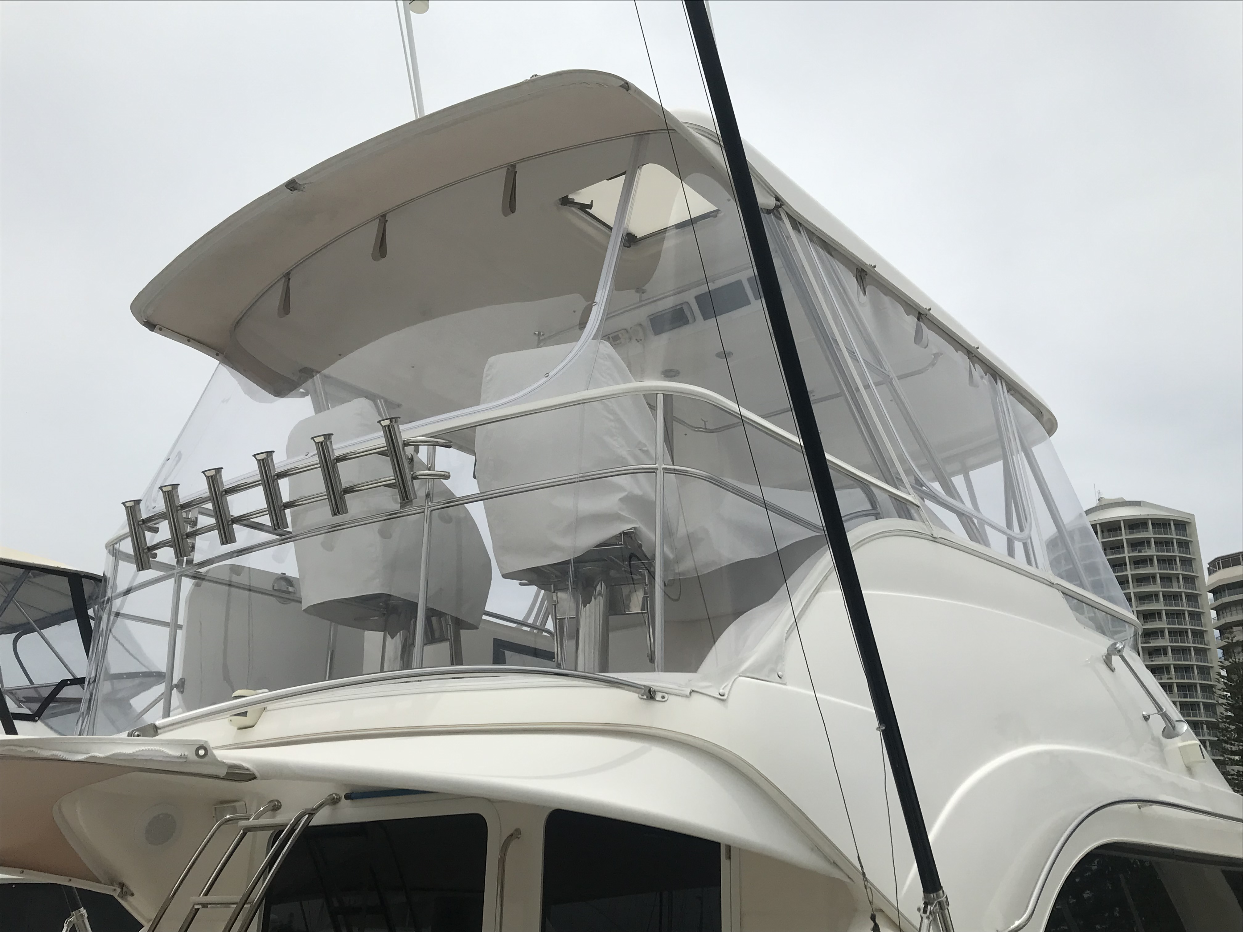 Queensland Canvas & Marine. Custom made clears, biminis and covers. For all your boating cover needs. Marine trimming.